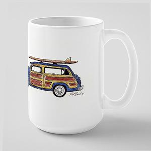 Dark Blue Woody Stainless Steel Travel Mugs