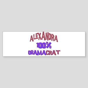 Alexandra - 100% Obamacrat Bumper Sticker