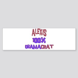 Alexis - 100% Obamacrat Bumper Sticker