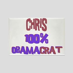 Chris - 100% Obamacrat Rectangle Magnet