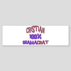 Cristian - 100% Obamacrat Bumper Sticker