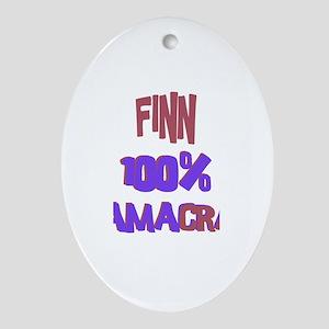 Finn - 100% Obamacrat Oval Ornament