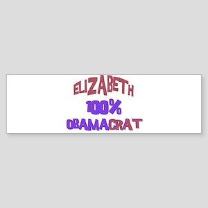 Elizabeth - 100% Obamacrat Bumper Sticker