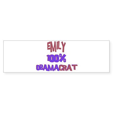 Emily - 100% Obamacrat Bumper Sticker