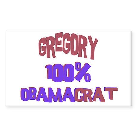 Gregory - 100% Obamacrat Rectangle Sticker