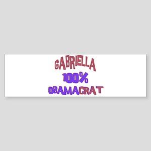 Gabriella - 100% Obamacrat Bumper Sticker