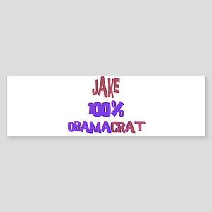 Jake - 100% Obamacrat Bumper Sticker