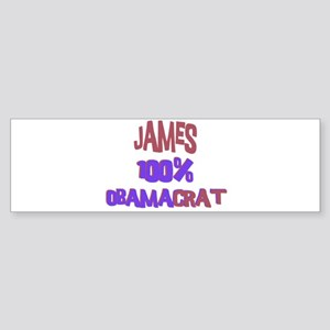 James - 100% Obamacrat Bumper Sticker
