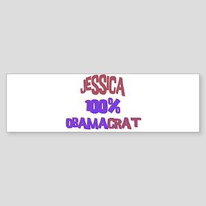 Jessica - 100% Obamacrat Bumper Sticker