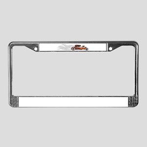 Smoking Rusty Rat Rod License Plate Frame