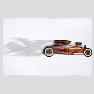 Smoking Rusty Rat Rod 4' x 6' Rug