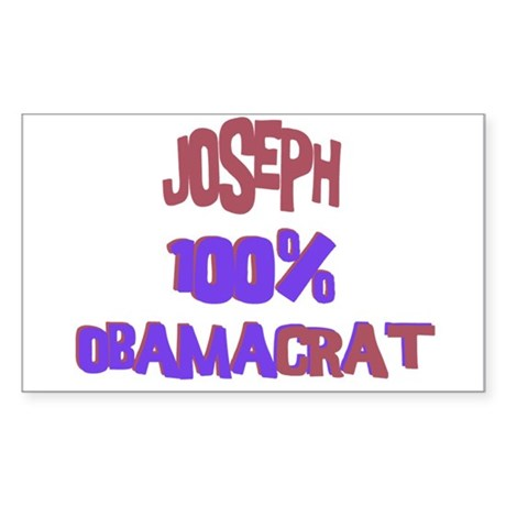 Joseph - 100% Obamacrat Rectangle Sticker