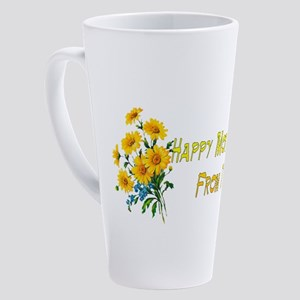 Dog Wishes For Mom 17 oz Latte Mug