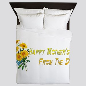 Dog Wishes For Mom Queen Duvet