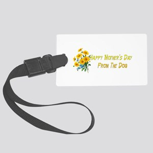 Dog Wishes For Mom Large Luggage Tag