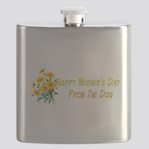 Dog Wishes For Mom Flask