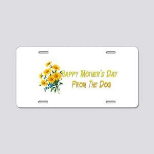 Dog Wishes For Mom Aluminum License Plate