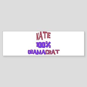 Katie - 100% Obamacrat Bumper Sticker