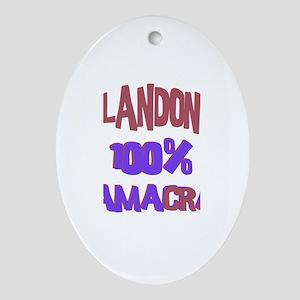 Landon - 100% Obamacrat Oval Ornament