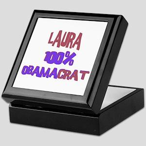 Laura - 100% Obamacrat Keepsake Box