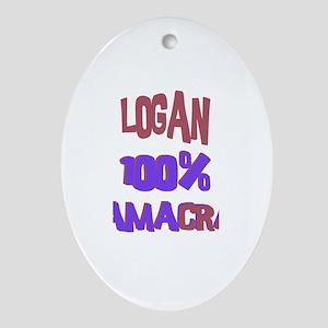 Logan - 100% Obamacrat Oval Ornament