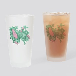 Rose of Sharon Drinking Glass