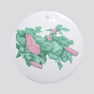 Rose of Sharon Round Ornament