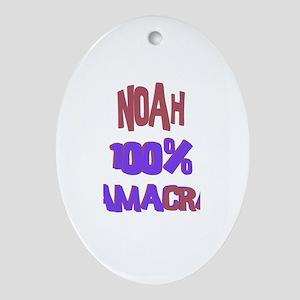 Noah - 100% Obamacrat Oval Ornament