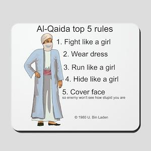 Al-Qaida rules of engagement Mousepad
