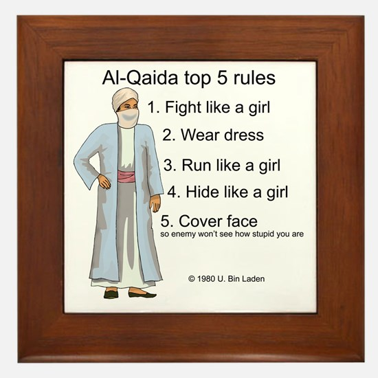 Al-Qaida rules of engagement Framed Tile