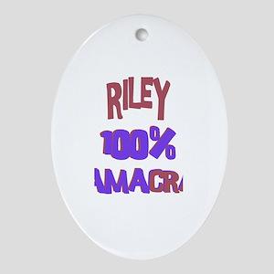 Riley - 100% Obamacrat Oval Ornament