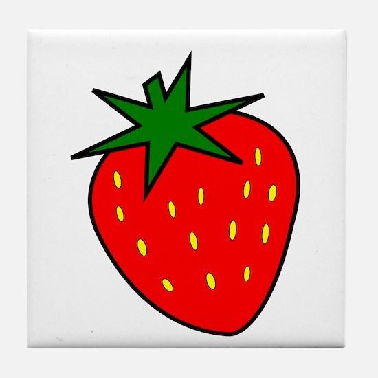 Cute Strawberry Tile Coaster