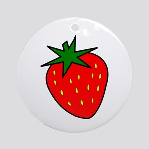 Cute Strawberry Ornament (Round)