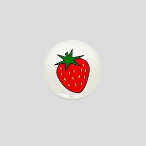 Cute Strawberry Mini Button