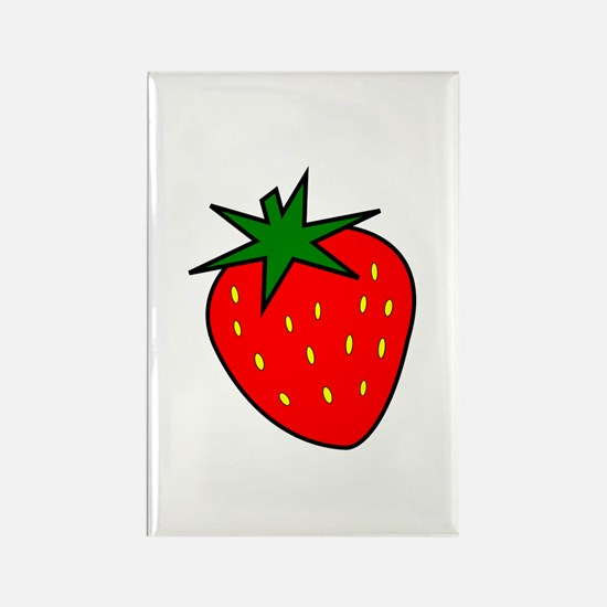 Cute Strawberry Rectangle Magnet