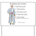 Al-Qaida rules of engagement Yard Sign