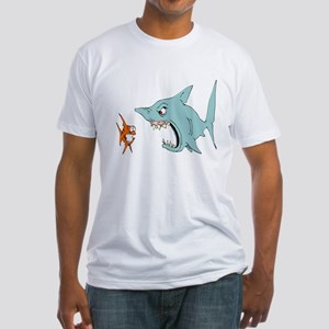 1660 Shark Eating Fitted T-Shirt