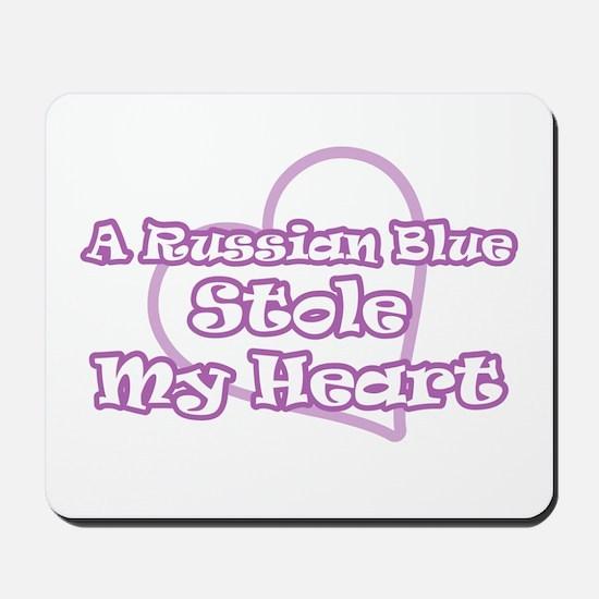 A Russian Blue Stole My Heart Mousepad