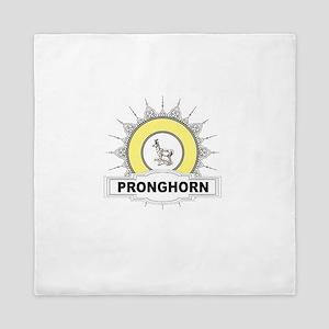 glory of yellow ring pronghorn Queen Duvet