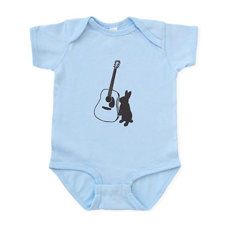 bunny & guitar Infant Bodysuit