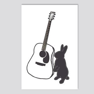 bunny & guitar Postcards (Package of 8)