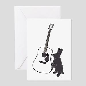 bunny & guitar Greeting Card
