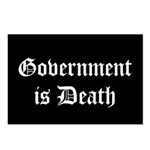 Gov't is Death Postcards (Package of 8)