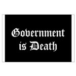 Gov't is Death Large Poster