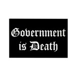 Gov't is Death Rectangle Magnet (10 pack)