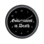 Gov't is Death Wall Clock