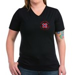 Screw Tibet Women's V-Neck Dark T-Shirt