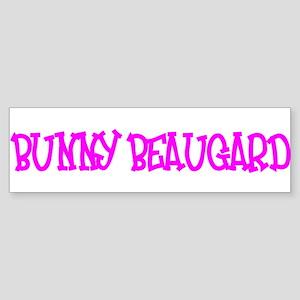"""Bunny Beaugard"" Bumper Sticker"