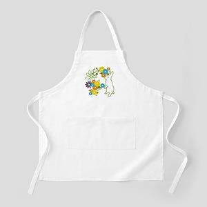 flower bunny BBQ Apron
