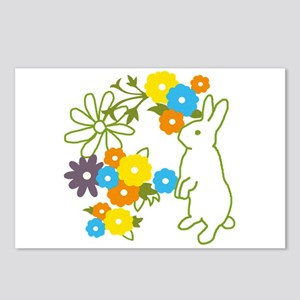flower bunny Postcards (Package of 8)
